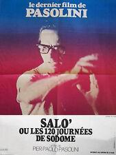 Affiche Pliée 60x80cm SALO OU LES 120 JOURNÉES DE SODOME (1976) Pasolini TBE