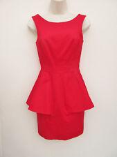 Lipsy - Womens Stylish Red Low Back Sleeveless Mini Dress - size 6