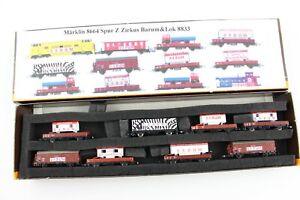 """8664 Güterwagen Set 8-teilig """"Zirkuswagen Barum"""" Märklin mini club Spur Z +Top+"""