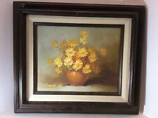 Daisy Daisies Oil Painting Floral - Still Life - Robert Cox Signed - Framed
