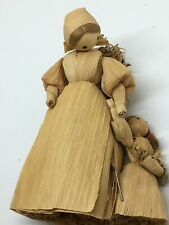 1970s Corn Husk Mother and Daughter Doll