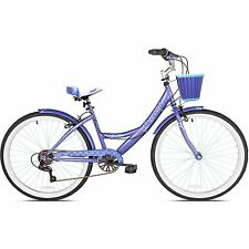 "26"" Women's Cruiser Bike Bicycle 7 Speed Adult Purple Comfort Seat"