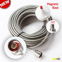 N Male Plug Antenna Cable Magnetic Mount NFC200 Ultra Low-Loss Coax 40 FT Cable