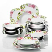 36-Pieces Porcelain Dinner Set Tableware Dessert Soup Dinner Plate for 6 Person