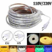 1m-20m Waterproof 5050 LED Flexible Tape Rope Strip Light Xmas Outdoor 110V 220V