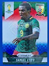 2014 Panini Prizm World Cup Soccer Samuel Eto'o (#40) red white blue refractor