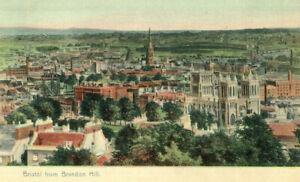 1904 postcard Bristol from Brandon Hill BRISTOL