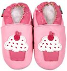 shoeszoo cupcake pink 6-12m S soft sole leather baby shoes slippers