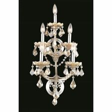 "Elegant 2800 Maria Theresa 5 Light 12"" Royal Cut Sconce, Smoky - 2800W5GT-GT/RC"