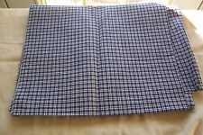 Vtg Antique 19thc Indigo Blue Homespun Like Cotton Fabric Dolls Quilts 2+ yards