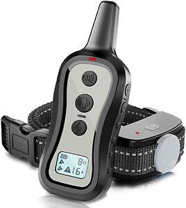 Dog Training Collar Dog Shock Collar with Remote, 3 Training Modes, Beep, (Grey)