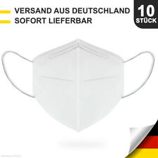 WOW 10 Stück Schutzmaske Mundschutz Atemschutzmaske 4-lagig KN95 wie FFP2 >= 95%