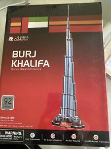CubicFun C151h 3D Puzzle : Burj Khalifa World's Greatest Architecture NEW SEALED