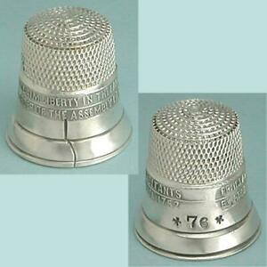 Vintage Sterling Silver Bicentennial Liberty Bell Thimble * Circa 1976