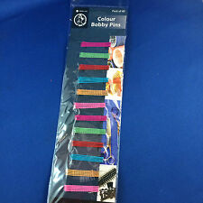 Bobby Pins hair clips multi coloured bulk pack of 48 for fine hair new