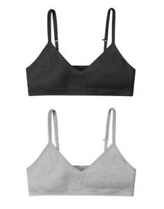 Hanes Girls' Cami Strap Wirefree Bra 2-Pack H148