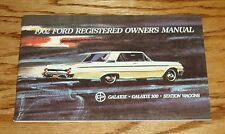 1962 Ford Galaxie - 500 - Station Wagon Owners Operators Manual 62