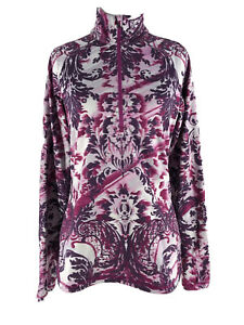 Athleta Women's Purple Sierra Thermal Floral Haze Half Zip Pullover Size Medium