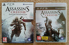 assassin's creed 3 edition washington PS3 / FR / très rare / envoi gratuit