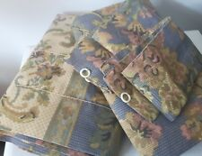 VTG WAMSUTTA SPRINGS rod pocket panels/tie backs floral country french chic USA