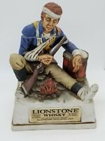 Vintage Lionstone Decanter Winter At Valley Forge Bicentennial Collection 1975