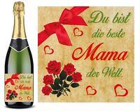 Flaschen Aufkleber Du bist die beste Mama der Welt Muttertag Geburtstag Geschenk