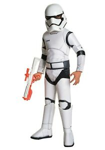 Child Super Deluxe Star Wars TFA Stormtrooper Costume Size S M L (with defect)