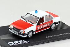 Opel Ascona C Feuerwehr rot 1982-1988 1:43 IXO / Altaya Modellauto