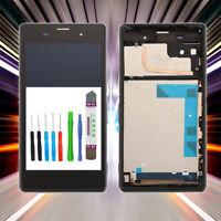 Display für Original Sony Xperia Z3 D6603 D6633 LCD TouchScreen Schwarz +RAHMEN