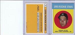 1993 Rookie Stars #2 Derek Jeter Reprint Card MINT (A-70)