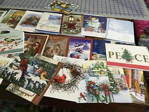 Christmas card assortment Lot of 40+ with envelopes