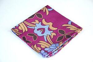 Lord R Colton Masterworks Pocket Square - Jacaranda Magenta Silk - $75 Retail
