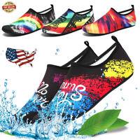 Womens Mens Quick-Dry Barefoot Water Skin Shoes Aqua Socks For Beach Swim Surf