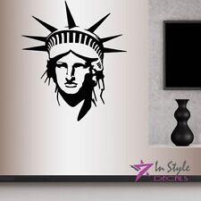 Vinyl Decal Statue Of Liberty Monument New York City USA NYC Wall Decor Art 2293