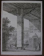 DOMENICO QUAGLIO ´VORHALLE MIT GROSSEM PFEILER, ARKADENHOF´ TROST R 5, 1807