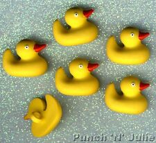 RUBBER DUCKS - Yellow Duckie Ducky Baby Bubble Bath Themed Craft Buttons