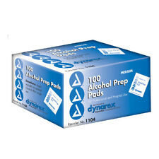 STERILE DYNAREX ALCOHOL PREPS PADS SWABS WIPES 100/BOX BRAND NEW !