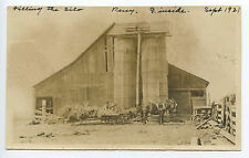 Vintage Photograph, Filling the Silo, Percy, V. Inside, Sept. 1921