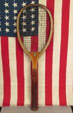 Vintage 1920s Spalding Wood AntiqueTennis Racquet Favorite Model Great Display!
