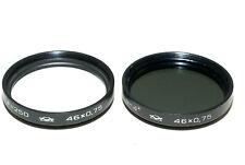 KMZ M46 ND4x Graufilter und Nahlinse f=250 für 46mm Filtergewinde (gut)