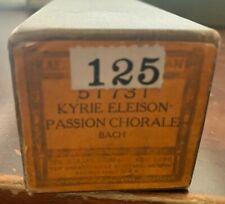 Aeolian Pipe-Organ Player Piano Roll 51731 Kyrie Eleison Passion Chorale - Bach
