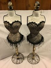 Lot of 2 Womens Female Tailors Dummy Dressmakers Bust Display Fashion Mannequin