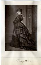Paris, Theatre, Croizette Vintage print Photoglyptie  8x12  Circa 1880  <d