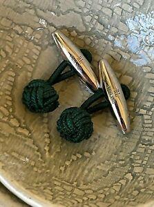 Cufflinks - Genuine RALPH LAUREN 925 Sterling Silver Billiard Green -England