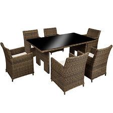 Luxus Alu Poly Rattan Essgruppe XL Sitzgruppe Gartengarnitur Gartenmöbel Tisch