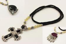 Halskette Anhänger Kreuz Tropfen Rund Fashion Jewelry C012