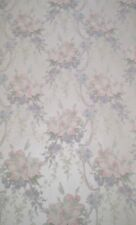 Traditional Satin Pink, Blue & Purple Floral Wallpaper by Fine Decor 04453