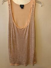 Dots Womens Racer Back Studded Tank Top Size X-Large XL Peach