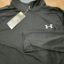 Nwt Under Armour Heat Gear Black Long Sleeve Active Shirt Mens Size L Loose
