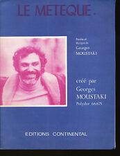 GEORGES MOUSTAKI partition musicale LE METEQUE